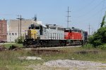 Z117 winds its way down the tracks along the riverfront