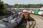 BNSF 6409 & 5684 sit in LSRC's Saginaw Yard waiting for coal empties to take back to CSX