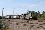 Working from the north end of McGrew, D710 goes about building its train for Port Huron