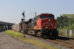 CN 2294 leads A451 north into the interlocking at Delray