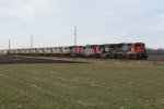 10 QNS&L SD70ACe's follow along behind 4 CN units