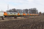 All 10 of Quebec North Shore & Labrador's new SD70's roll east together