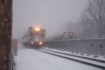 New Jersey Transit 5118 Hoboken bound train meets Suffern Bound Train