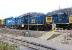 CSX SD40-3 #4049, CSX MP15AC #1153, CSX SD40-2 #8865