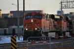 BNSF 5937 Leads a westbound Empty Coal Train into the BNSF Lincoln yard on a Very Cold January Morning in Lincoln!!!!