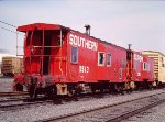 Southern Cabooses Arrive on Northbound Freight - 1985