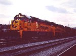 Chessie C&O Freight nears Potomac Yards - 1985