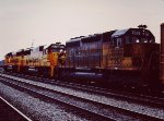 NB C&O Freight nears Potomac Yards - 1985