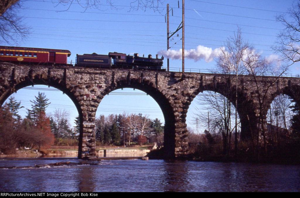 SRC 7002 WB at the Conestoga River bridge, Lancaster