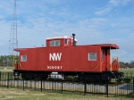N&W Caboose near the (now gone) station in Chesapeake