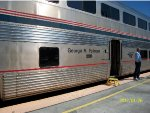 "Coast Starlight sleeper ""George M. Pullman"" at SLO"