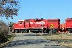 RJC GP38-2 7710 leads a set of light engines back to R.J. Cormans Memphis Line