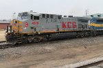 KCS on the point taking the siding in Dubuque, Iowa