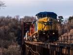 CSX 9019 leads a CP and ICE units