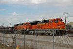 BNSF 9105 Is tied down.