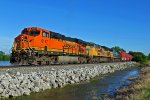 BNSF 6147 Rolls a freight Nb leading Up and csx power!!