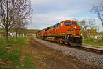 BNSF 6433 heads off WB,