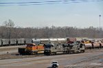 BNSF 5872  and other's sit in the yard,
