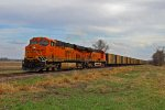BNSF 6320 Heads Nb with a empty coal train.