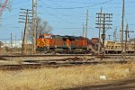 BNSF 5088 heads sb with a rock train in tow.