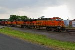 BNSF 7855 Waits to leave the yard to head Nb,