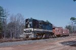 Train #68 heads east after running around their train in West Union.