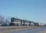 Train #155, southbound @ Bessemer City.