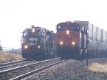 BNSF ES44DC 7437 & BNSF GP39V 2965