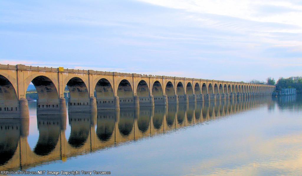 Philadelphia and Reading Bridge Over the Susquehanna River