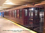 Wooden elevated car BRT 1404 at NYC TRansit Museum