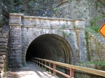 eastern portal of the C&O Canal Paw Paw Tunnel
