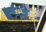 CSX 453, close-up of cab view
