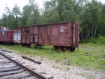 Old Maine Central wooden Boxcar on the Conway Scenic