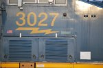 Side Shot of the Cab of CSX 3027 A Brand New ES44AH.