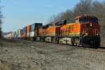 BNSF 7876 Takes another eb stack train.