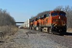 BNSF 7496 takes a Eb hotshot stack toward fort madison.