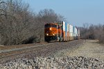 BNSF 7389 takes a wb stack out of la plata mo.