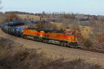 BNSF 5623 heads up a Wb corn syrup train.