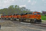 BNSF 6961 And 5 other units power a EB stack.