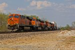 BNSF 7221 Heads Wb with a stack train.