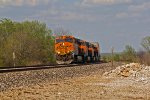 BNSF 7893 Leads a Wb stack train at Mp 328!