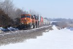 BNSF 7406 Slow's for tk speed near la plata mo.