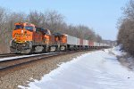 BNSF 7440 Leads a WB hotshot z train.