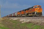 BNSF 6220 Leads a EB grain train.