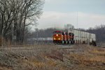BNSF 7690 Rips a Wb z train.