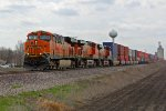BNSF 7358 Leads the Q LACCXO1 Wb.