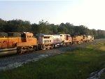 BNSF (ATSF) 925, BNSF 4860, BNSF (ATSF) 644, BNSF 9137, BNSF H1 1028, 2 more H2,s lead rare empty coal.