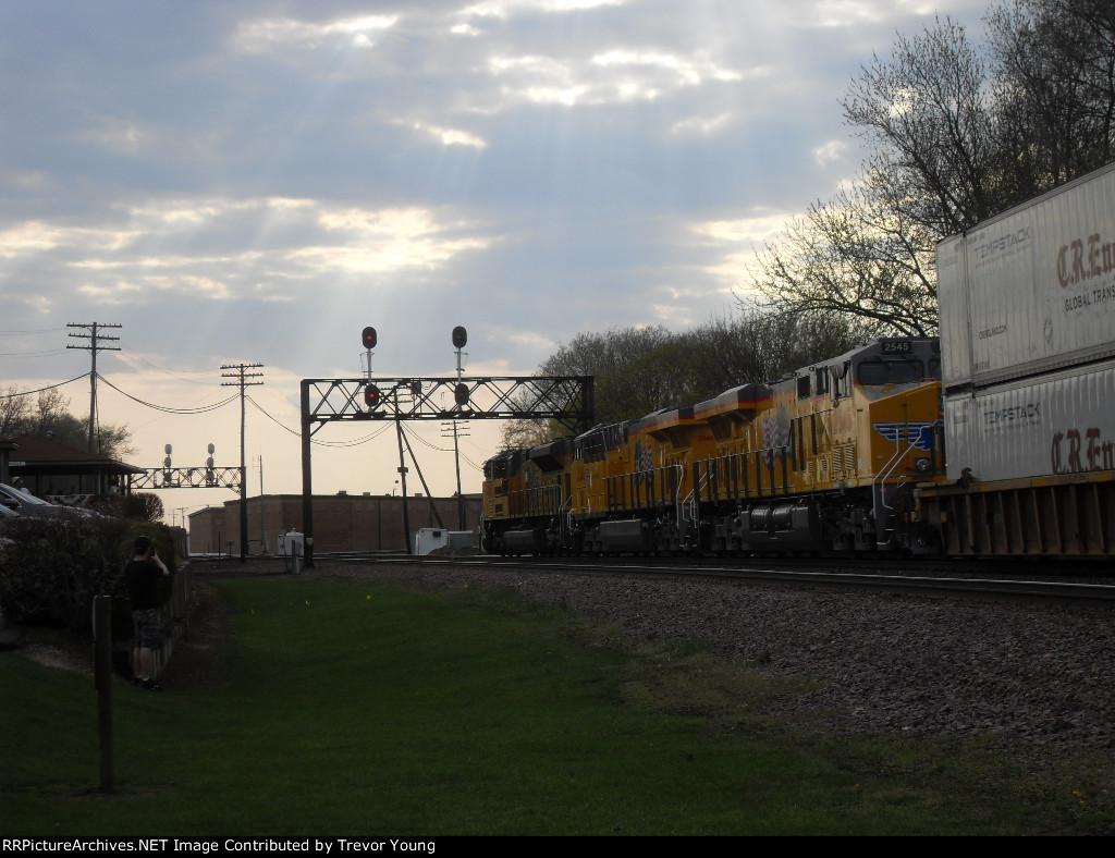 UP 8893, 2546, 2545, UP 8424 DPU W, Rochelle, IL