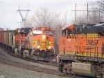BNSF ES44DC 7282 & BNSF C44-9W 5096