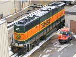 130129001 BNSF 342 At Northtown Diesel Shop